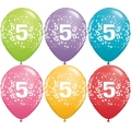 No. 5 Latex Balloons Assorted Colours